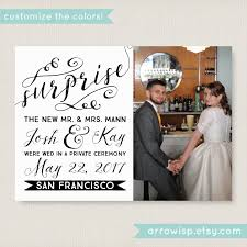 elopement invitations postcard wedding announcements wally designs