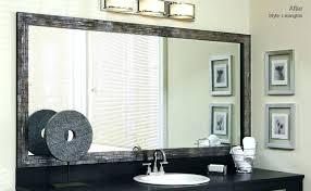 Frame Bathroom Mirror Kit Mirror Frame Kit Lowes Bathroom Mirror Frame Kits House Of Cards