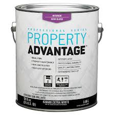 shop property advantage white semi gloss latex interior paint
