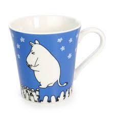 lifestyle blue moomin valley mug cup wooden house gift box kawamono