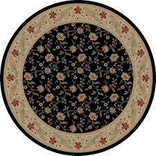 7 Round Area Rug Home Dynamix Empire Black 7 Ft 10 In Indoor Round Area Rug 8r