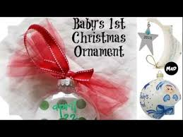 Baby S First Christmas Bauble Hallmark by Silver Christmas Ornaments Baby U0027s First Christmas Ornament Youtube