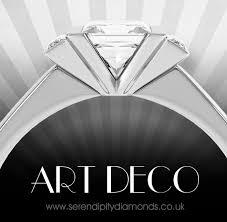 art deco ring revival for diamond engagement rings