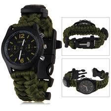 survival rope bracelet kit images Survival paracord bracelet compass fire starter prepper camping jpg