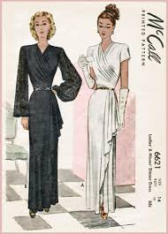 1940s evening gowns and cocktail dresses sewing patterns u2013 lady
