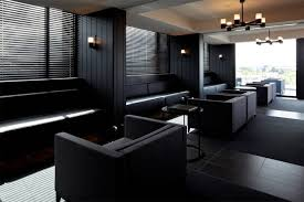 dark interior dressed in black living room design inspiration pinterest