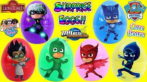 amazon pj masks surprise toy eggs learn colors disney