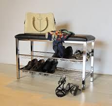 Shoe Shelf Bench by Aspect 3 Tier Storage Shoe Rack Bench With Seat Cushion 80 X 30 X