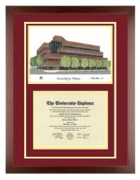 degree frames of diploma frame with artwork in