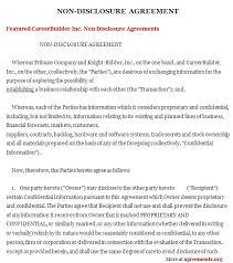 Non Disclosure Statement Template by Non Disclosure Agreement Sle Non Disclosure Agreement Template