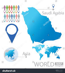 Asia World Map by Kingdom Saudi Arabia Asia World Map Stock Vector 151723949