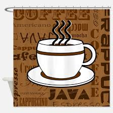 Coffee Print Kitchen Curtains Coffee Shower Curtains Cafepress