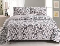 Twin Quilts And Coverlets Amazon Com Martinique Collection 3 Piece Luxury Quilt Set With