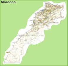 Map Of Spain And Morocco by Morocco Maps Maps Of Morocco