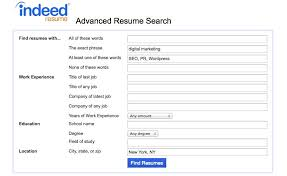 Online Resume Search by For Those That Refuse To Use The Search Function Within A Resume
