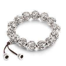 prayer bracelet images Silver beads om mantras prayer bracelet small details make a big jpg