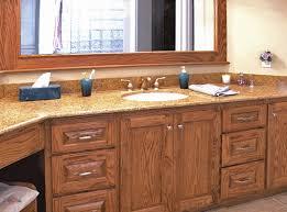 Oak Bathroom Cabinets by Preferential Oak Bathroom Cabinets Ideas With White Pedestal Sink