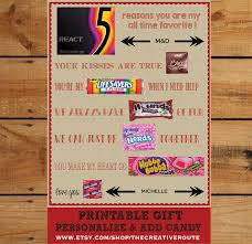 husband anniversary gift ideas anniversary gift diy print and add candy editable