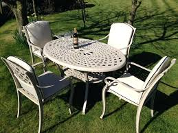 Aluminum Patio Chairs by Patio Stamford Round Aluminium 6 Seater Patio Set With Lazy