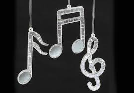 Musical Note Ornaments In Motion Mirrored Note Ornaments