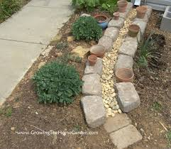 Drainage Ideas For Backyard Making A Dry Creek Bed Drainage Canal For Downspouts Growing The
