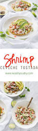 shrimp ceviche tostada i wash you dry