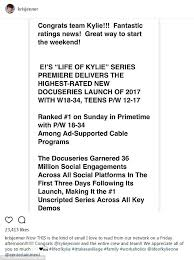 kris jenner brags about life of kylie ratings on instagram daily