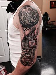 az tattoo designshalf sleeve biomechanical tattoo designs