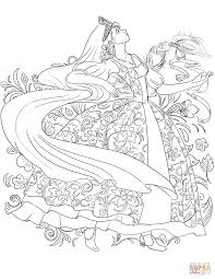 russian woman in a traditional dress dancing coloring page free