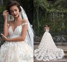 amazing wedding dresses amazing 2017 wedding dresses sheer crew neck beaded 3d flowers