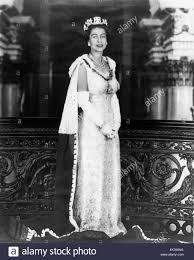 queen elizabeth ii portrait circa mid 1950 u0027s stock photo