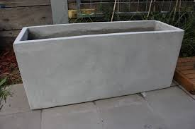 garden pots batch of 6 x 120cm long ultra lite weight concrete