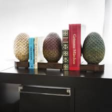 game of thrones dragon egg bookends getdigital