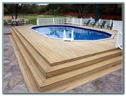 above ground oval pool deck designs decks home decorating
