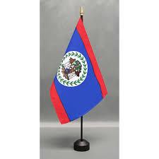 Belize Flag Country 8 U0027 X 12 U0027 Mounted E Gloss Flag Closeouts Eder Flag