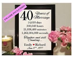 40 year anniversary gift 40 year anniversary etsy