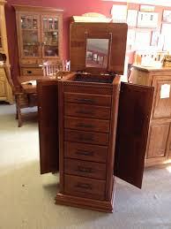 Jewelry Armoire Clearance Deluxe Jewelry Armoire With Twist Amish Traditions Wv
