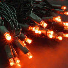 led polka dot 70 string light set orange led string lights