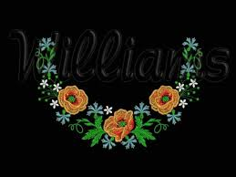 the wreath of wildflowers machine embroidery design