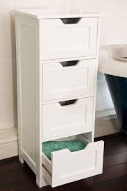 Bedroom Storage Cabinets by Home Treats Tall 4 Drawer Storage Cabinet Bathroom Cabinet Or
