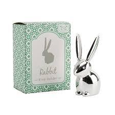 vintage rabbit ring holder images Vintage ceramic kissing bunny rabbit ring holder display trinket jpg