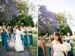 peach and teal multicultural wedding