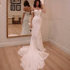 tulle wedding dress mermaid the shoulder court tulle wedding dress with