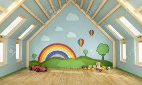 deco salle de jeux salle de jeux dans le grenier avec des jouets et de la décoration
