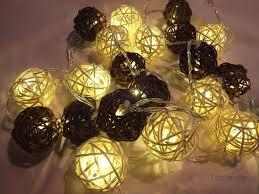 rattan ball fairy lights review of electsun rattan ball fairy and metal drop led lights