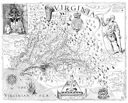 A Map Of Virginia by Seakayak Website Captain John Smith