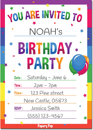 birthday party invitations birthday invitations with envelopes 15 count kids