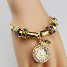 bracelet watches with charms images Womens bracelet watch tide belt wrapped diamond love dial ladies jpg