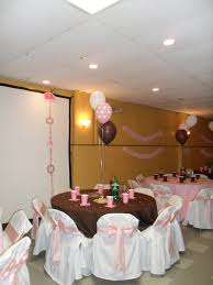 pink and brown baby shower baby shower brown pink and white party decorations by teresa