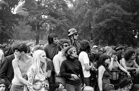 At Hyde Park Fans Listen To The Rolling Stones Hyde Park 1969 The Rolling